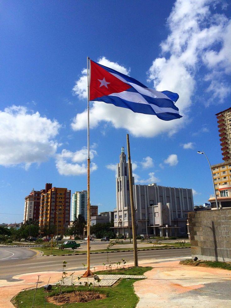 Cuban Flag, Havana, Cuba