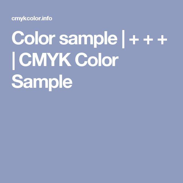 色の作り方  Color sample |  +  +  +  | CMYK Color Sample