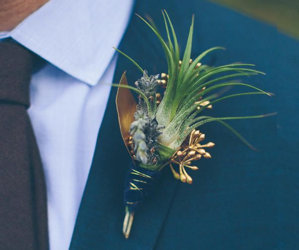 Leave the tough stuff to your professional florist, but if you want to add a handcrafted touch, try making the groom's boutonniere.
