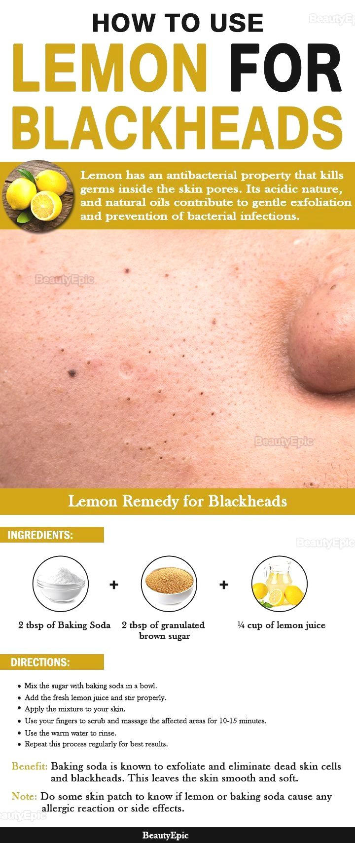 How to Use Lemon for Blackheads #beauty hacks skincare