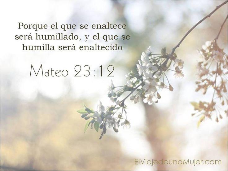 Mateo 23:12 Porque el que se enaltece será humillado, y el que se humilla será…
