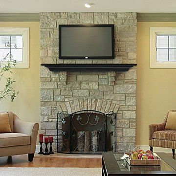 Pearl Mantels Crestwood Transitional Fireplace Mantel Shelf - Decorative Wall Shelves at Hayneedle