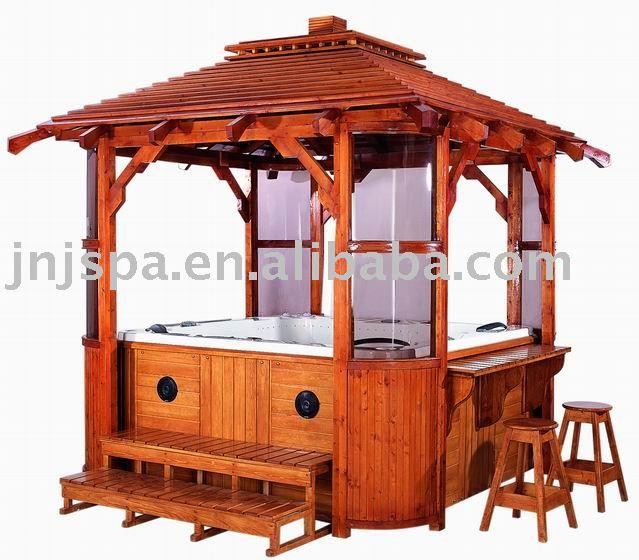 outdoor spa gazebo(spa gazebo,wooden gaz