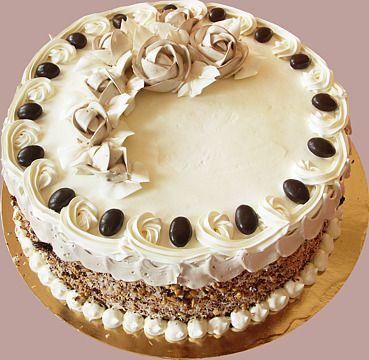 Znalezione obrazy dla zapytania tort orzechowy