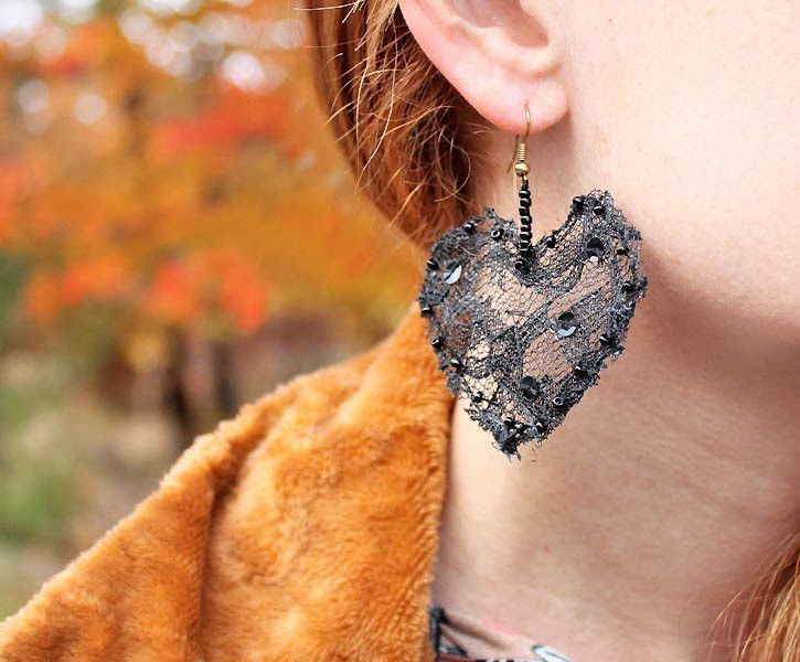 Recycle materials to make these earings