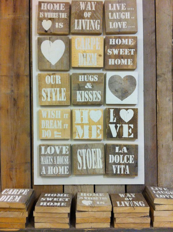 DIY driftwood  steigerhout oud hout stencil letters and shapes ca 20 x 20 cm