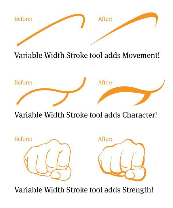 Variable Width Stroke Tool in Illustrator #Illustrator