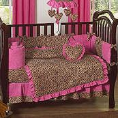 OMG I love this!!!!!!!Cheetah Hot Pink and Leopard Print 9 Piece Crib Set.  See more leopard print baby shower inspiration: http://www.squidoo.com/leopard-baby-shower