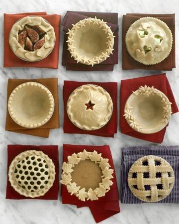 How to make decorative pie crusts. #pie #baking #crust
