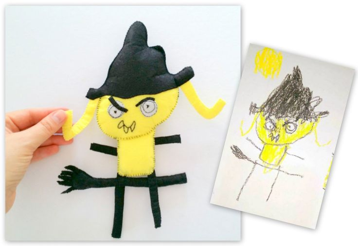 Toy From Your Kid's Drawing, Witch Personalized Gift for Kids, Totally Unique Present, Birthday Gifts for Everyone, Make It Special Gift by EmaDecorations on Etsy https://www.etsy.com/uk/listing/483018876/toy-from-your-kids-drawing-witch