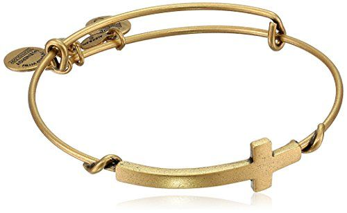 "Alex and Ani ""Spiritual Armour"" Cross Expandable Wire Bangle Bracelet, 7.75"""