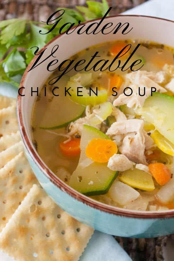 Garden Vegetable Chicken Soup Recipe Delicious Soup Recipes Chicken Vegetable Soup Recipes Slow Cooker Dinner Recipes
