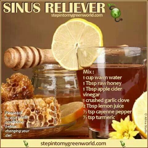 Natural Sinus remedy... I'll have to try this if I get another sinus infection