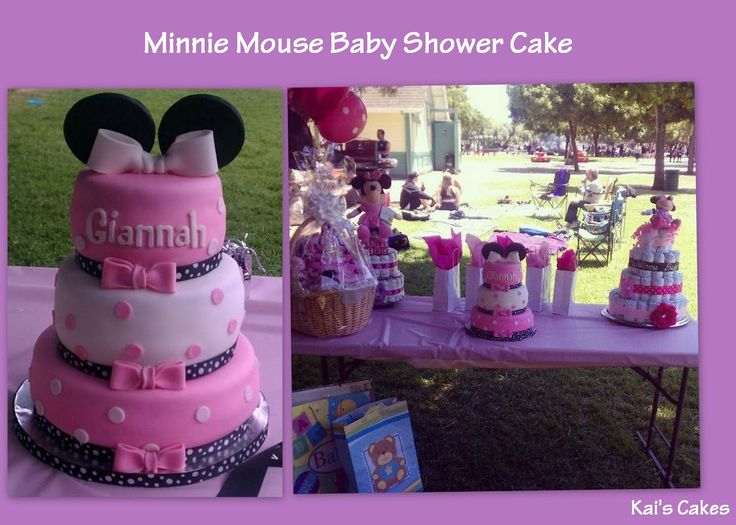 minnie mouse shower cake