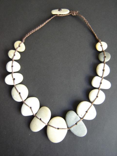 Pebble necklace  Made in New Zealand ByDeborah Walsh $127 NZD  See more of her work here  http://www.coolstoregallery.co.nz/jewellery/deborahwalsh/deborahwalsh.htm
