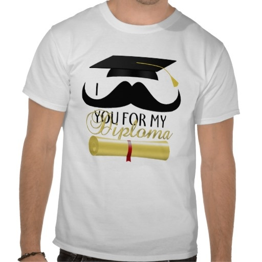 I mustache you for my Diploma with Graduation cap, moustache and diploma tshirt by #PLdesign #GraduationGift #MustacheDiploma