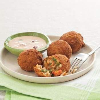Have leftover crawfish etouffee? These fried crawfish etouffee balls are a phenomenal encore.