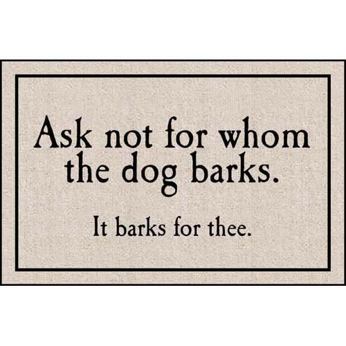 FOR WHOM THE DOG BARKS DOORMAT from Get Organized  sc 1 st  Pinterest : door matts - pezcame.com