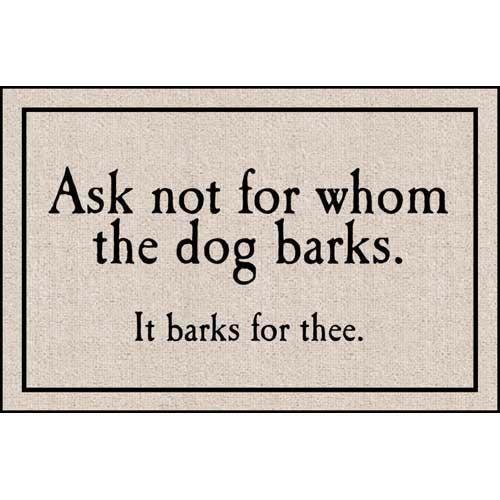 FOR WHOM THE DOG BARKS DOORMAT from Get Organized  sc 1 st  Pinterest & 26 best Door Matts images on Pinterest | Door rugs Entrance doors ...