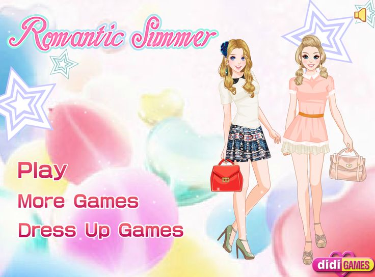 Ubierz dwie przyjaciółki w modne ubrania. Pamiętaj o pięknej biżuterii i pięknym makijażu! http://www.ubieranki.eu/ubieranki/9799/romantyczne-lato.html