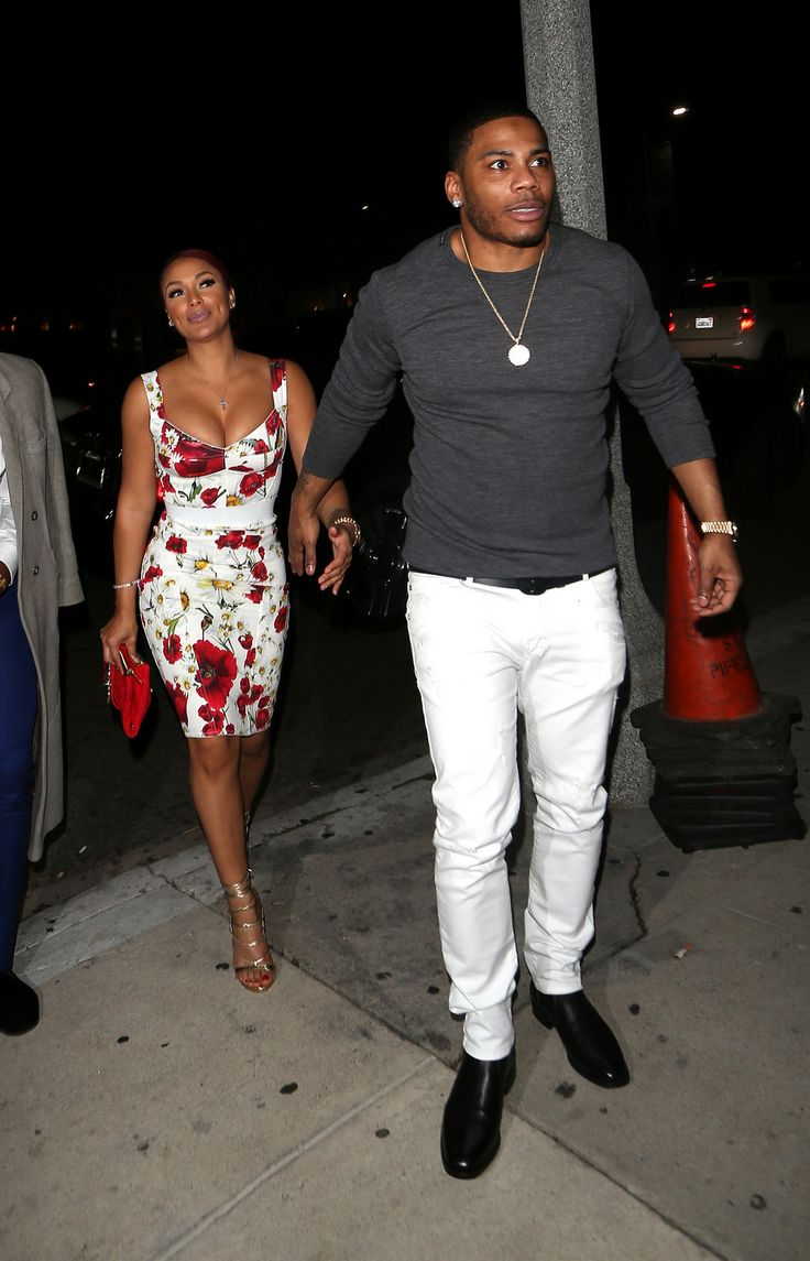 Cute couple Nelly and Shantel Jackson were spotted out at ...