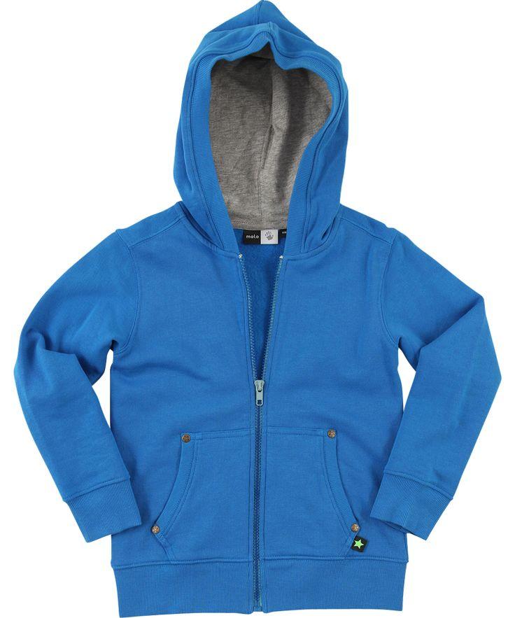 Molo Funky Blue Hoodie with Easy Zipper #emilea