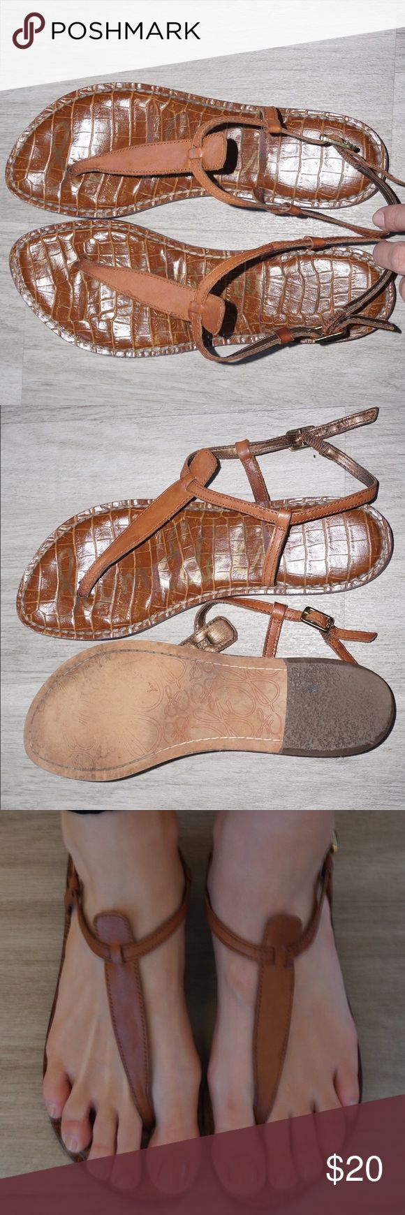 Sam Edelman Gigi Sandals Sam Edelman Gigi Sandals  Color: Brown  Size: 8.5 Condition: Good; The sole is slightly bent but shoe feels fine when worn. Sam Edelman Shoes Sandals