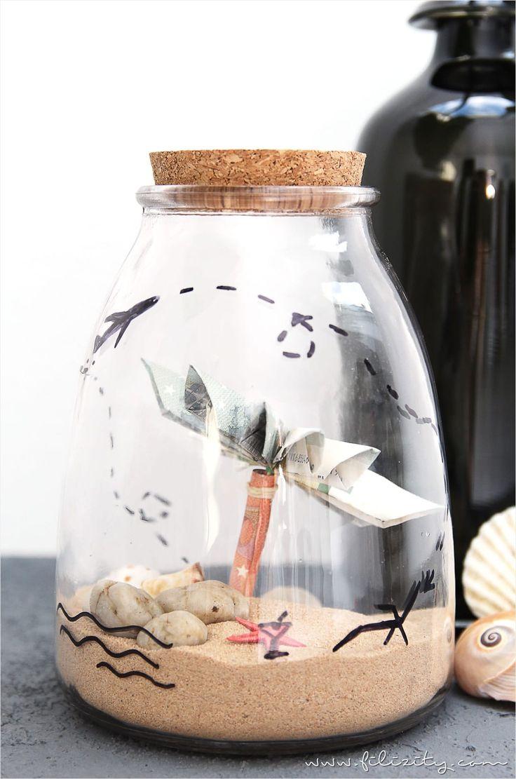 Geldgeschenke Persönlich Und Kreativ Verpacken? Wie Wäru0027s Mit Einem  Reiseglas Für Den Zuschuss Zur Reisekasse