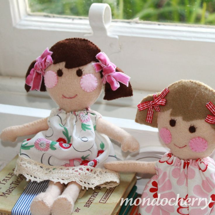 Free Felt Doll Patterns | small bite of mondocherry: rosy cheeked dolls...