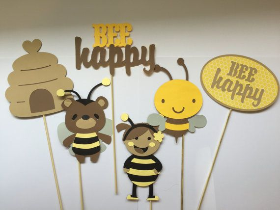 Calling all bees! This set of 6 photo props are just too adorable to pass up! Whether youre having a bumblebee themed baby shower, gender reveal