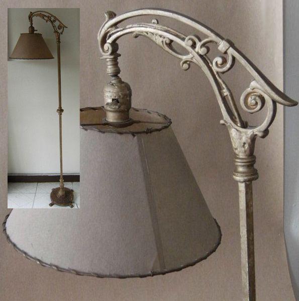 antique bridge arm floor lamp antique lamps parts pieces pinter. Black Bedroom Furniture Sets. Home Design Ideas