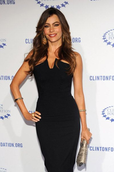 Sofia Vergara attends Bill Clinton birthday gala