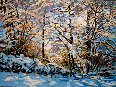 If you came this way...snowy coppice  80 x 110cm  SOLD