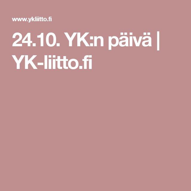 24.10. YK:n päivä | YK-liitto.fi