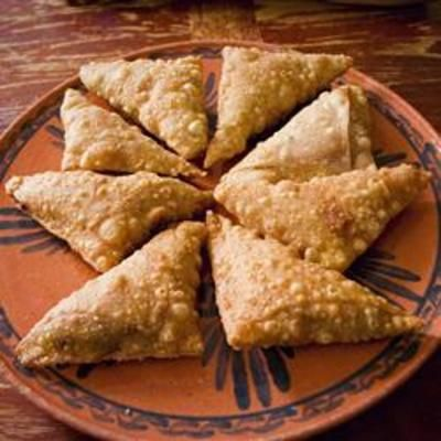 Beef Samosas, I love these but have only had the vegetarian version of them. I must try these sometime soon
