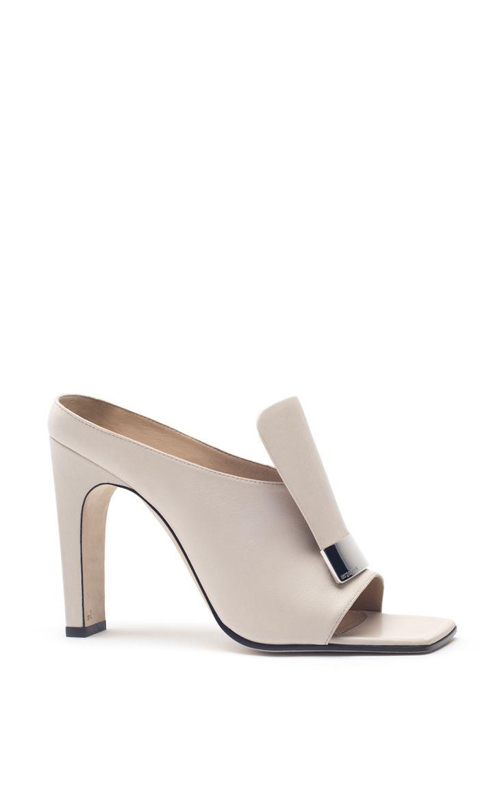 Neutral Leather Mules by Sergio Rossi | Moda Operandi