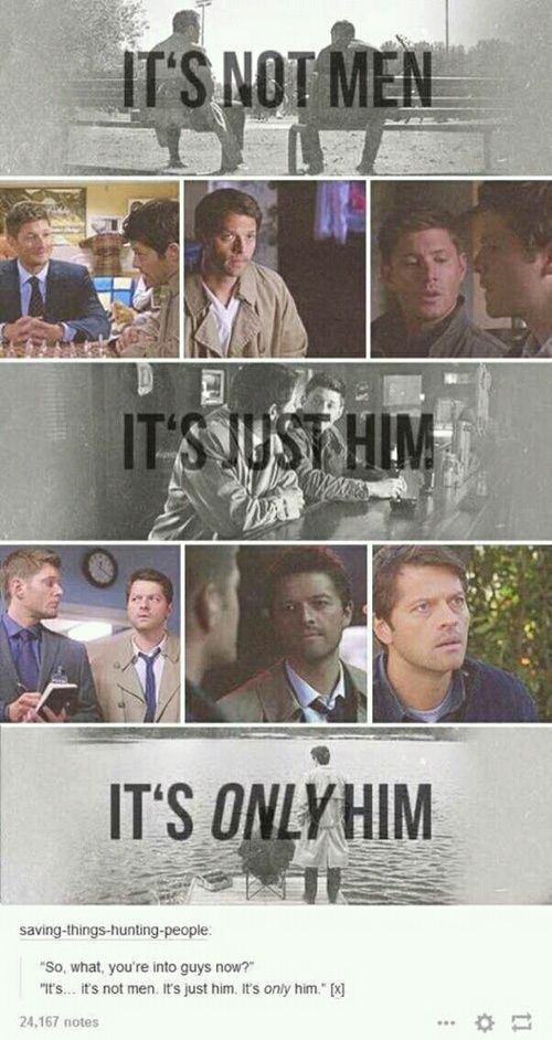 supernatural, castiel, and destiel image ---- this is what Ianto said to his sister about Jack (Torchwood)