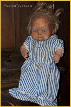 Haunted doll from Sanitarium Estate....Just looking at it gives me the creeps!....