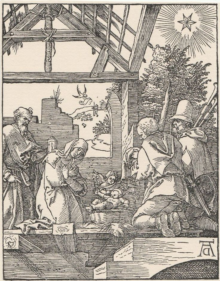 The Nativity - Small Passion Series Engraving After Albrecht Durer
