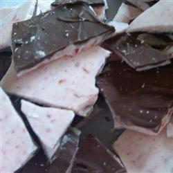 Chocolate-Dipped Peppermint Bark Allrecipes.com