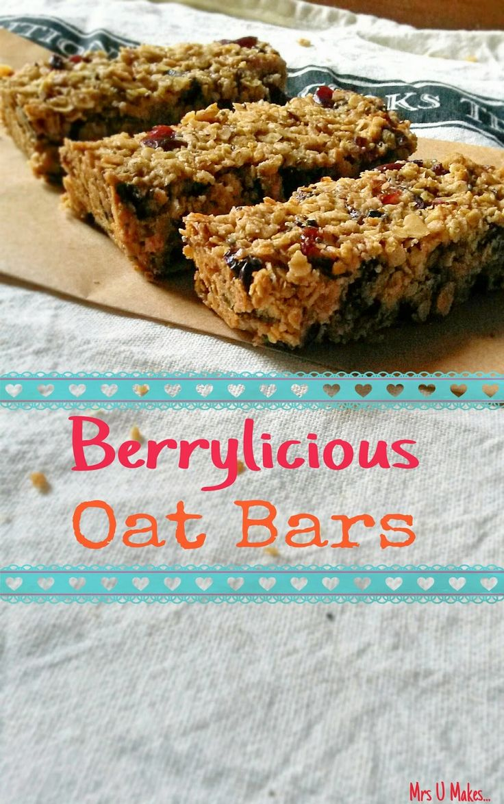 Mrs U Makes...: Berrylicious Oat Bars @MrsUMakes