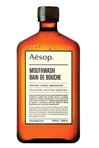 Fresh Fella: 15 Must-Buy Men's Grooming Products #refinery29  http://www.refinery29.com/43087#slide6  Aesop Mouthwash, $25, available at Aesop.