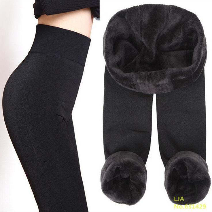 Tendance Tricot Livraison gratuite VENTE CHAUDE 2016 hiver nouveau Haut élastique épaissir dame Leggings pantalons chauds pantalons slim pour femmes