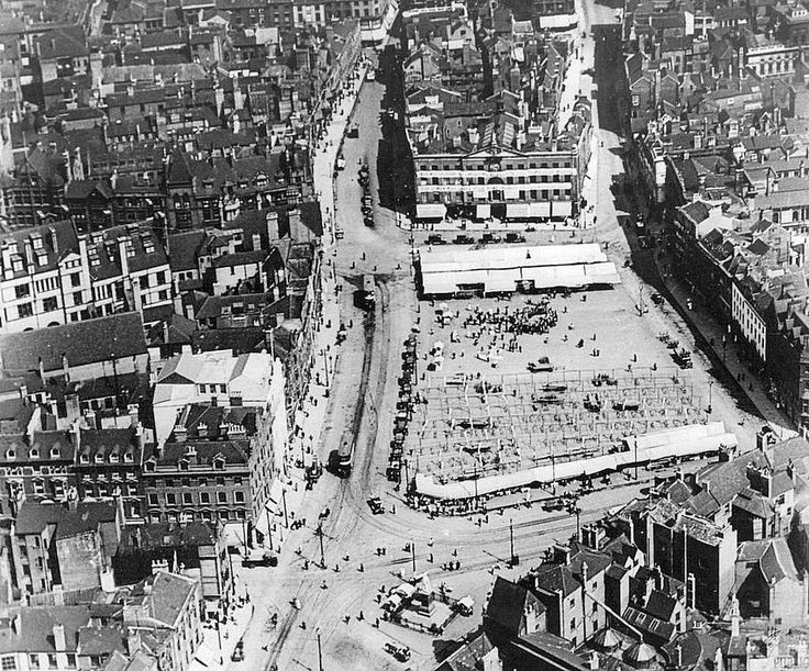 Market Square, Nottingham, 1920s.