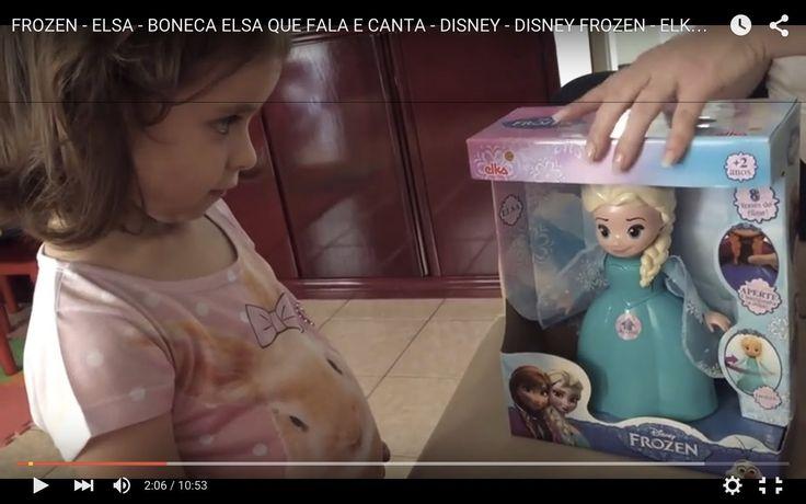 FROZEN - ELSA - BONECA ELSA QUE FALA E CANTA - DISNEY - DISNEY FROZEN - ...