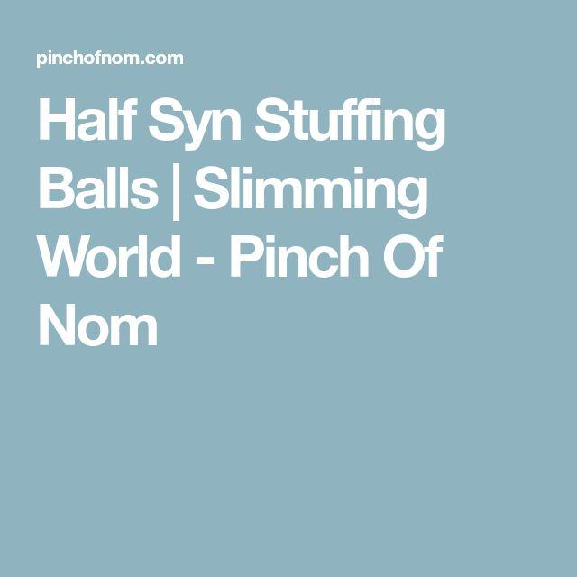 Half Syn Stuffing Balls | Slimming World - Pinch Of Nom