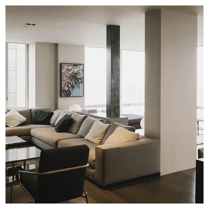 Riverside apartment living spaces living rooms diy decorating modern interior apartments new york studios flat