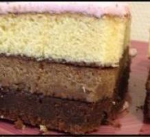 Recette - Gâteau américain aux 3 chocolats et pâte à sucre - Notée 5/5 par les internautes