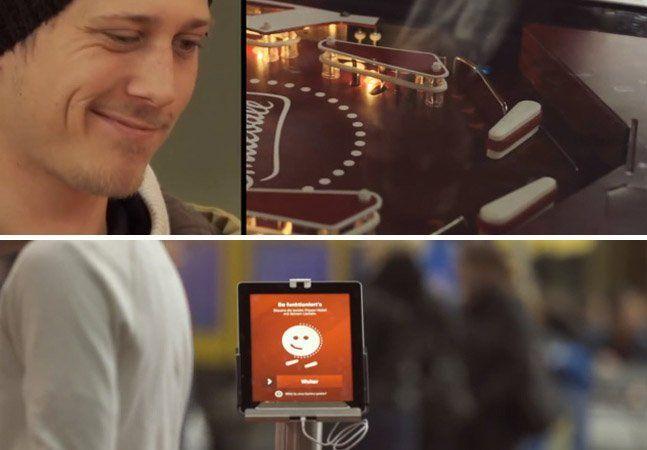 Mais do que propagandas, as campanhas têm que ser capaz de se relacionar com as pessoas. Nós aqui do Hypeness adoramos mostrar essas pequenas/grandes ideias que tiram o consumidor do botão automático do cotidiano, para lhe fazer dar aquele sorrisinho de canto de boca, o que no caso aqui foi literal e necessário. Uma empresa de plano de saúde suíça, a KPT, resolveu mostrar que tem os clientes mais felizes do mundo, usando um pinball controlado unicamente pelo sorriso: você controlava os pinos…