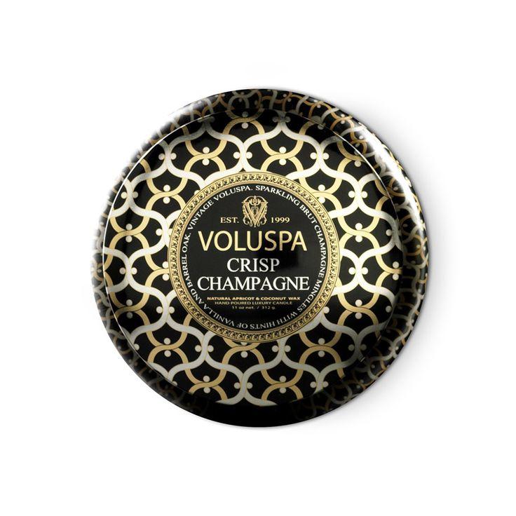 2-Wick Doftljus, Crisp Champagne 50 tim, Voluspa